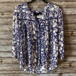 GNW Floral See-Through Blouse